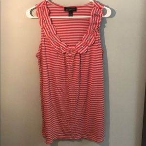 Red and Gray striped Tank